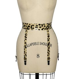 Leopard Latex 6 Strap Garterbelt