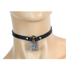 Leather Lock Choker