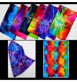 Cosmic Tie-Dye Embroidered Sarong