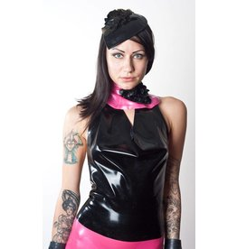 Latex Cowl Neck Top