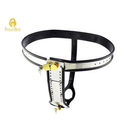 Steel and Silicone Female Chastity Belt
