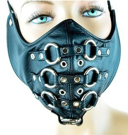 Leather Mouth Mask w/ O-Rings