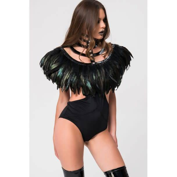 Feather and Vinyl Bolero