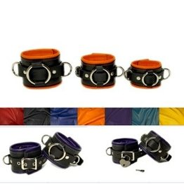 Two Tone Leather Cuffs Pr