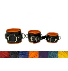 Two Tone Leather Cuffs Pair