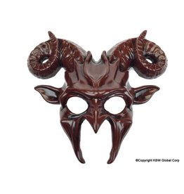 Demon and Curved Horns Mask