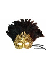 Venetian Leaf and Feather Emperor Mask
