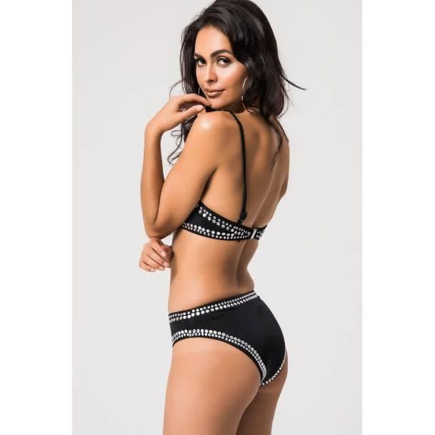Flat Studded Black Bikini 2pc