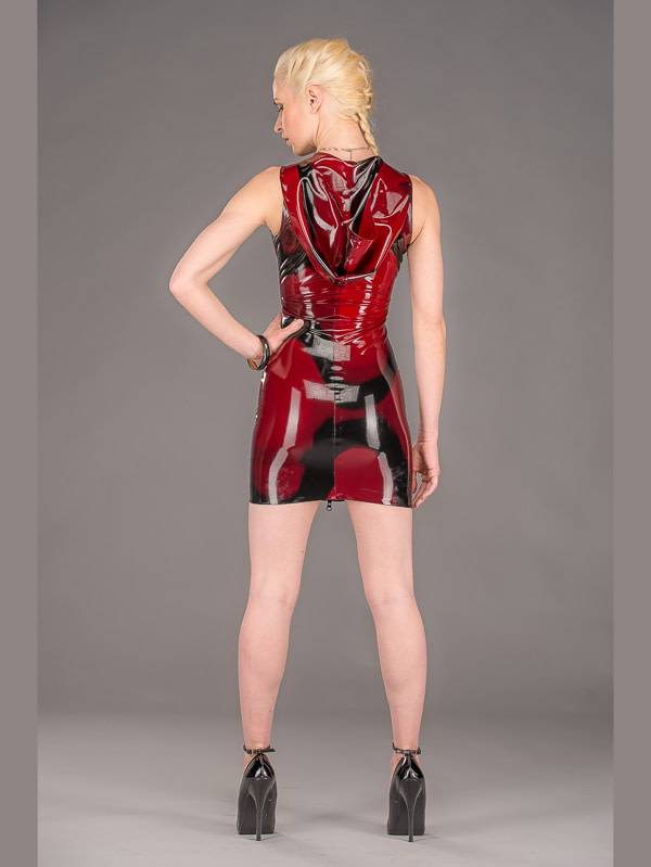 Marbled Latex Hoodie Dress
