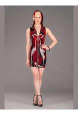 Marbled Latex Hoodie Dress