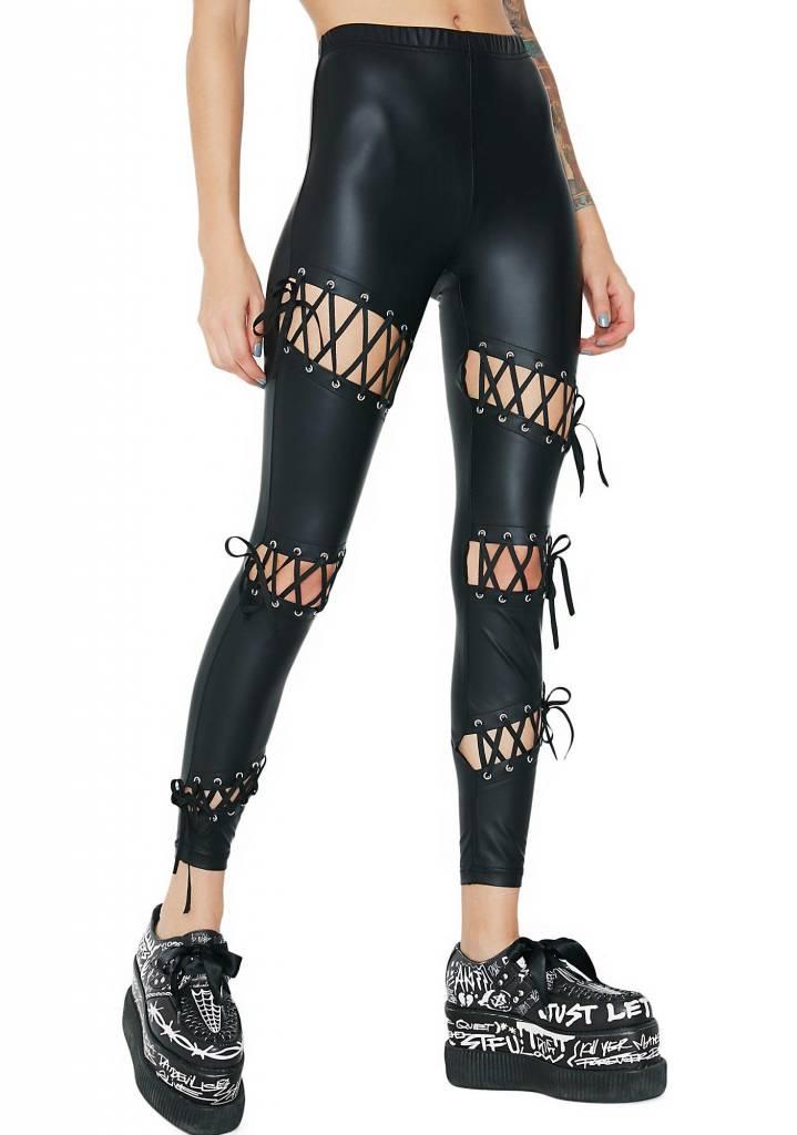 Rebellion Matte Lace-Up Legging
