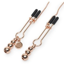 Gold Nipple and Clitoral Clamp Chain