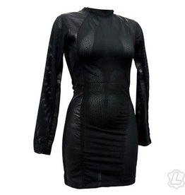 Lycra and Mesh Panel Dress
