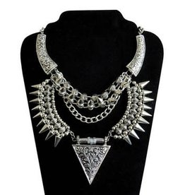 Spike & Triangle Tribal Necklac