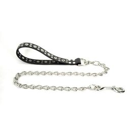 Leather & Chain Tentacle Handle Leash