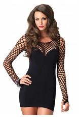 Seamless Mini Dress w/  Diamond Net Sleeves