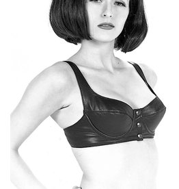 Leather Underwire Bra W/Snap