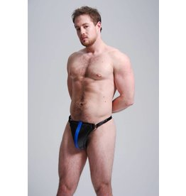 FM Leather Lined Padded Leather Jock w/ Front Stripe