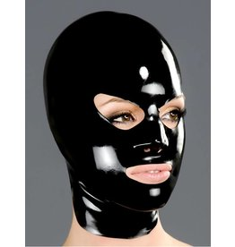 Latex Hood with Shaped Eyes and Mouth