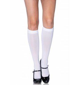 Opaque Nylon Knee High Socks