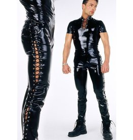 DeMask Laced Side Latex Jeans