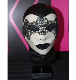 Miss Kinky Latex Venetian Mask Hood