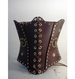 Brown And Brass Leather Cincher
