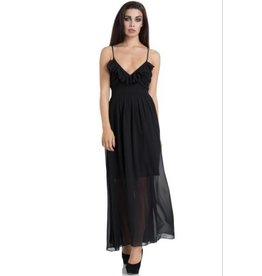 Sleeveless Chiffon Gown