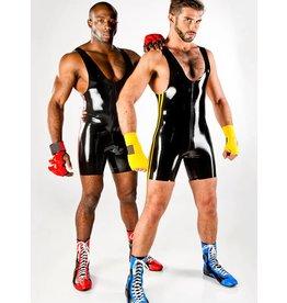 Latex Wrestling Singlet W/Pipin