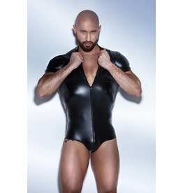 Wetlook Bodysuit w/ 2-Way Zipper
