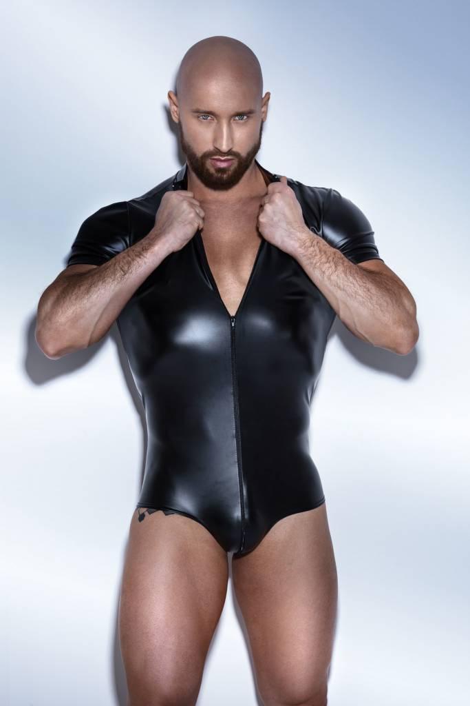 Wetlook Bodysuit w/ 2-Way Zipper