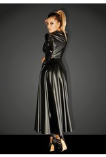 Wetlook Gown Coat w/ Lace