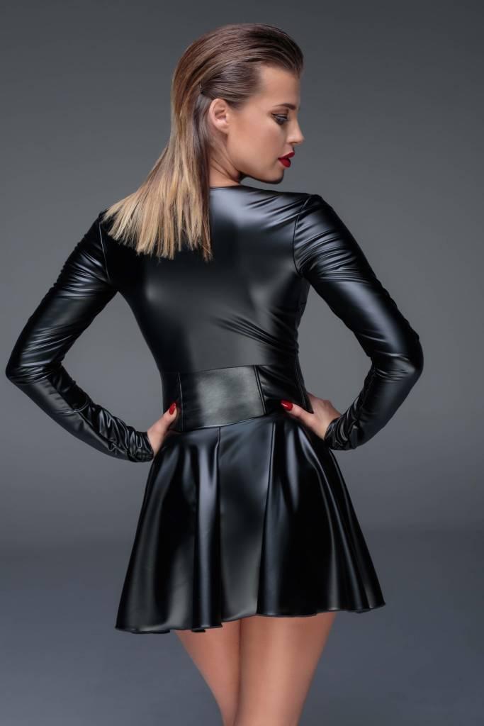 Wetlook Mini Dress w/ Corset Waist
