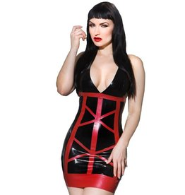 Allure Latex V Neck Halter Dress