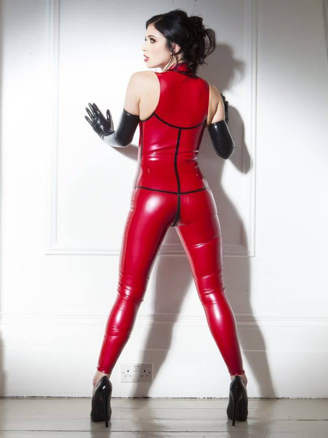 Sleeveless Latex Catsuit