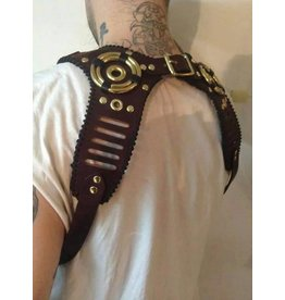 Stitched Leather Harness Suspenders One Size
