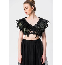 Feathered and Mesh Shrug
