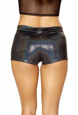 Roma Oil Slick Shorts w/ Front Dummy Pockets, Back Pockets, Zip Fly