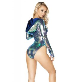 J. Valentine Long Sleeve Hooded Spandex BodySuit