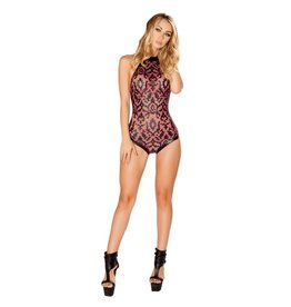 J. Valentine Faux Leather Applique Body Suit