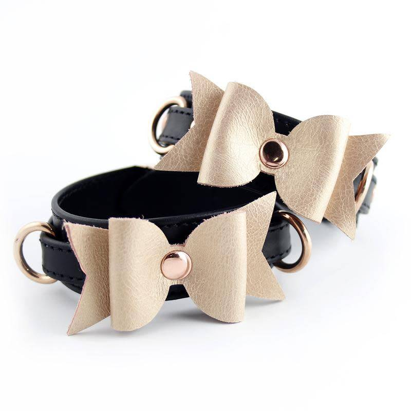 Restrained Grace RG Leather Bow Cuff