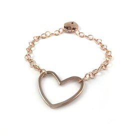 Restrained Grace Rose Gold Heart Ring Day Collar
