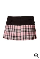 Plaid Mini Skirt w/ Lace & Mesh