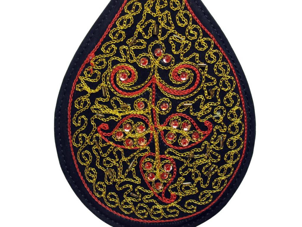Round Embroidered Spanker Paddle