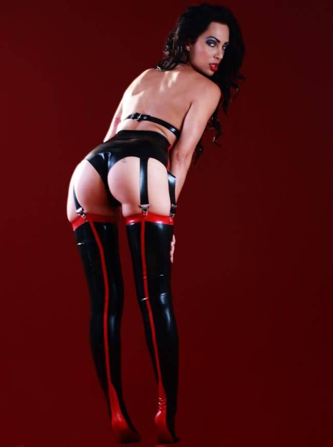 Latex Siren Stockings