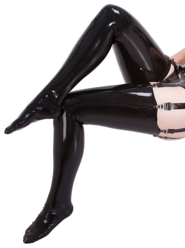Latex Seamed Stockings