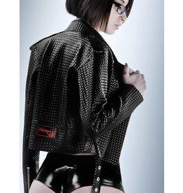 DP Textured Latex Perfecto Motorcycle Jacket