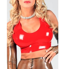 DP Latex Crop Tank Top w/ Zip
