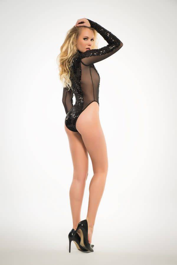 Coco Sequin & Sheer Bodysuit