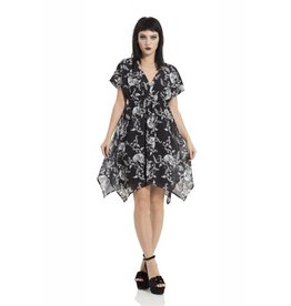 Baroque Skull Chiffon Hanky Dress